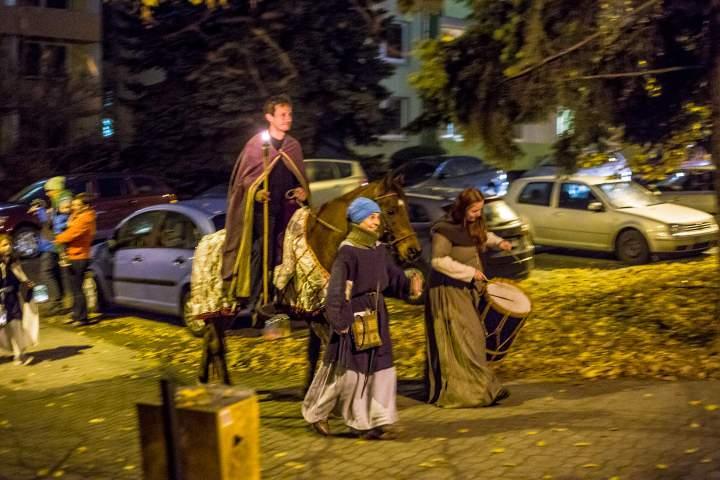 Průvod vedl sv. Martin na koni. Foto: Kristýna Čermáková