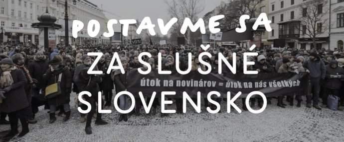 Demonštrácia za slušné slovensko. Archív: Za Slušné Slovensko