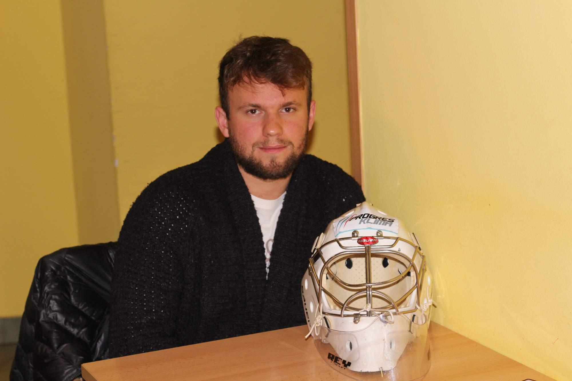 Pavel Golasowski, brankář HC Masaryk University. Foto: Tomáš Siřinek