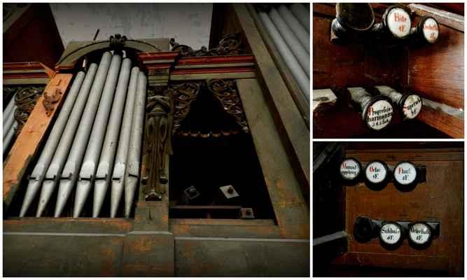 varhany byly na základě objednávky pana  Zedricha postaveny varhanářem Karlem Vocelkou z Prahy v roce 1869 - Město se chovalo k prostoru více než macešsky, byl zde mimo jiné obecní sklad obilí, sena a slámy a do varhan se i střílelo – proč ne. Stál jsem u nich a nevěřil svým očím