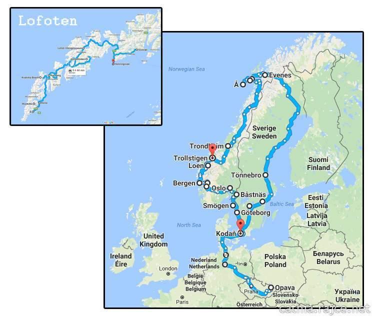 Road Trip - Mapa