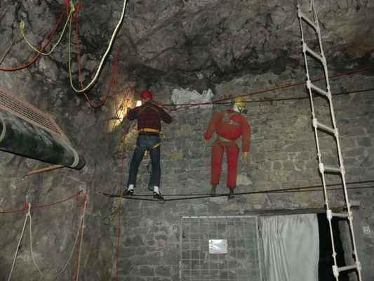 Zde si mohou jeskyňáři nacvičit vše co budou v podzemí potřebovat.