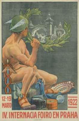 plakát ke 4. Mezinárodnímu veletrhu v Praze