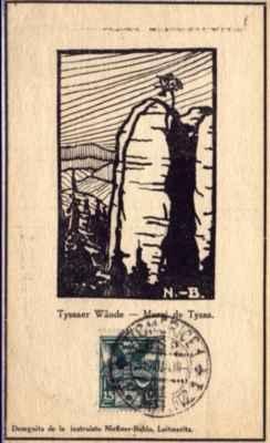 pohlednice Tiské stěny - vyd. kap. Beran, Litoměřice 1931 - bildkarto Muroj de Tisa, eld., kapitano Beran en Litoměřice (1931)