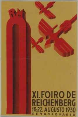 plakát k veletrĥu v Liberci (1930) - afiŝo