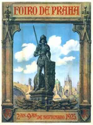 plakát k pražskému veletrhu - afiŝo