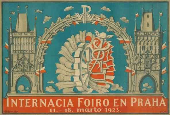 plakát z Mezinárodnímu veletru v Praze - afiŝo
