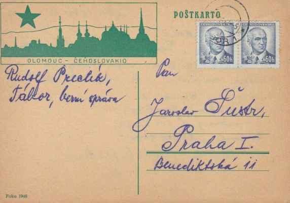 dopisnice 1946 - poŝtkarto 1946