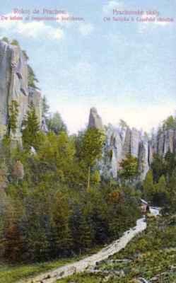 pohlednice Český ráj (30. léta) - bildkarto Bohemia paradizo (1930-aj jaroj)