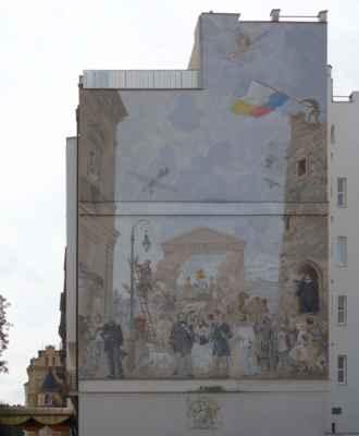 V Křižíkových sadech se nezapomeneme zastavit u největšího nástěnného obrazu v Česku Theatrum Mundi aneb jak využít prázdnou plochu k ozvláštnění prostoru :o))) Theatrum Mundi zobrazuje slavné lidi, kteří měli svůj život spojený s městem Plzeň.
