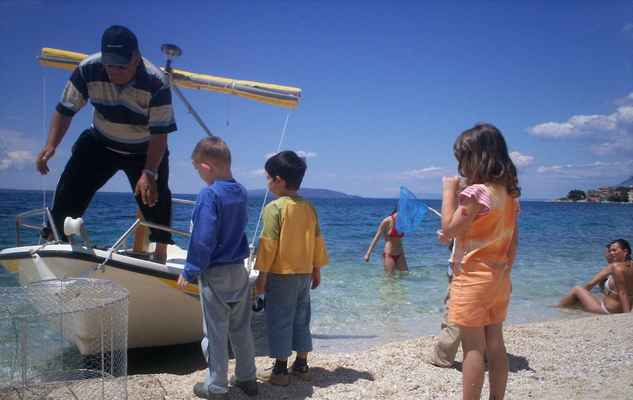 Chorvatsko - Gradac. Past na ryby.
